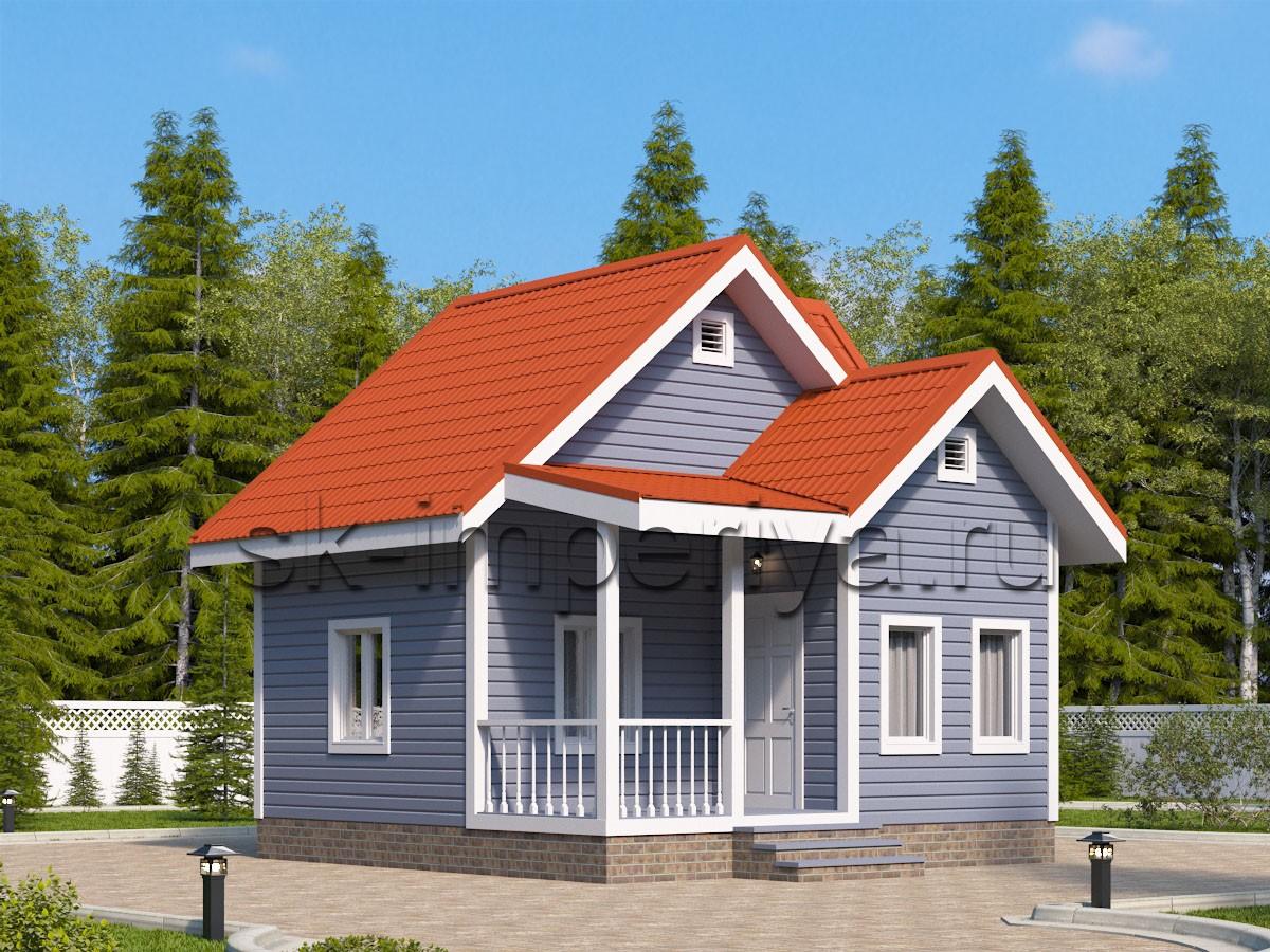 Дом из бруса: проект Веста