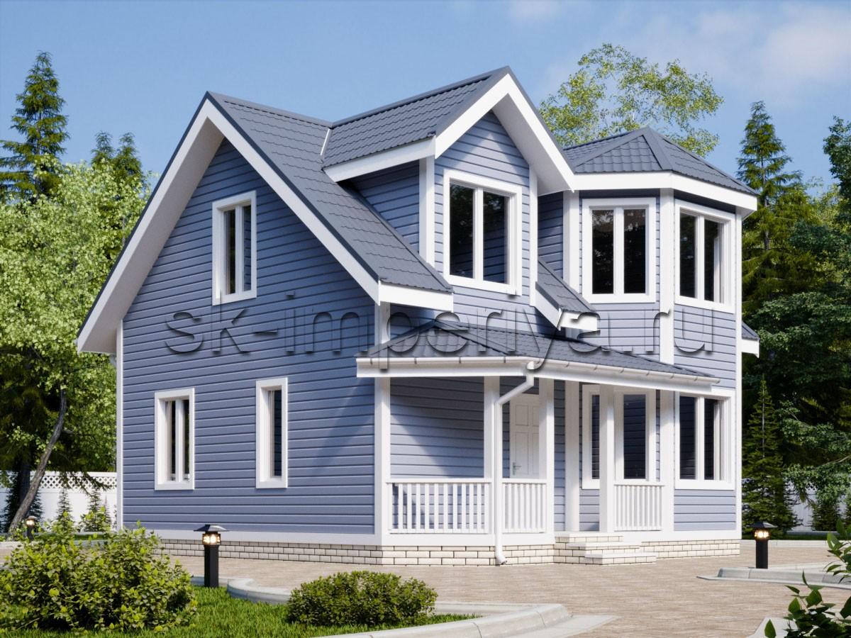 Дом из бруса: проект Гелиос