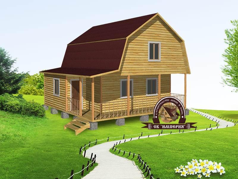 Дом из бруса: проект Д-33