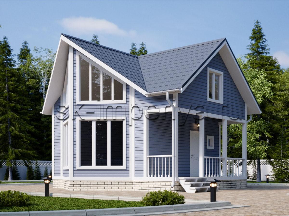 Дом из бруса: проект Деметра