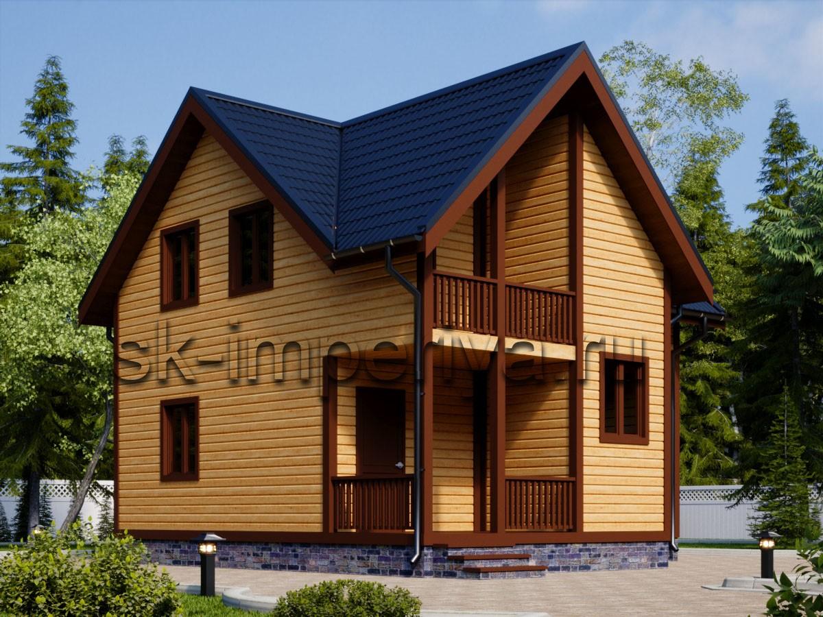 Дом из бруса: проект Витязь