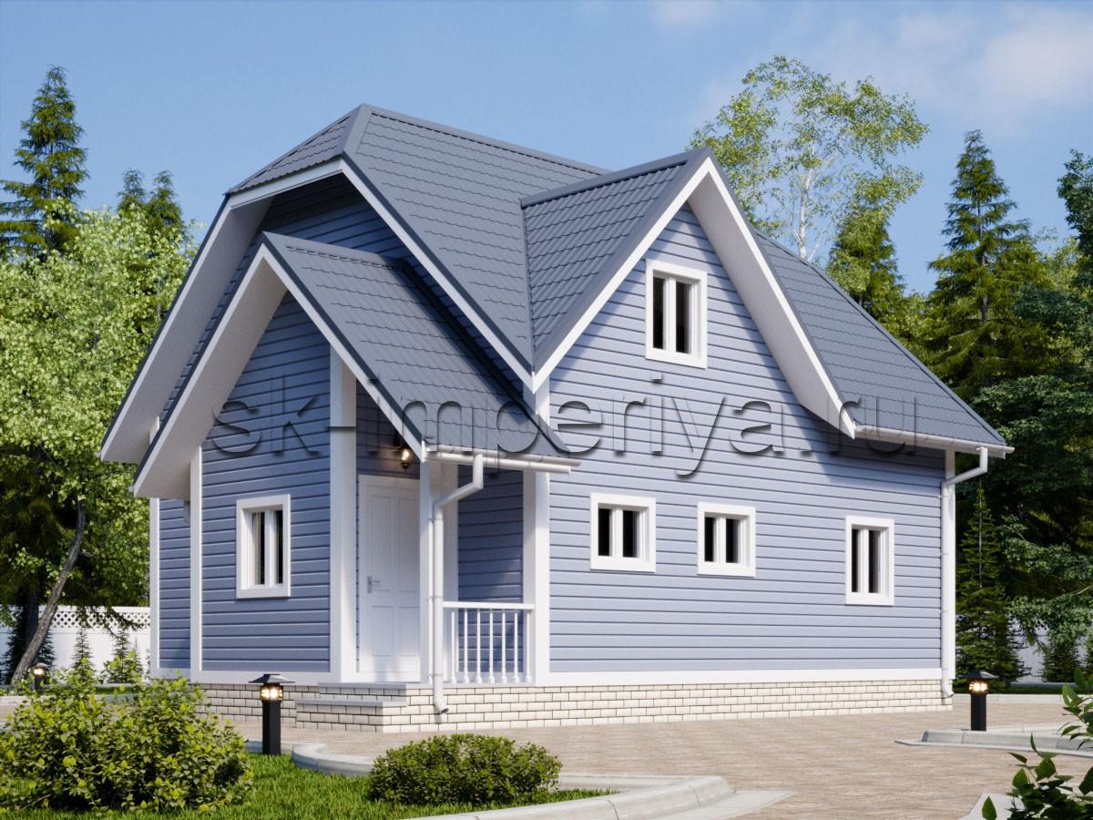 Дом из бруса: проект Кипарис