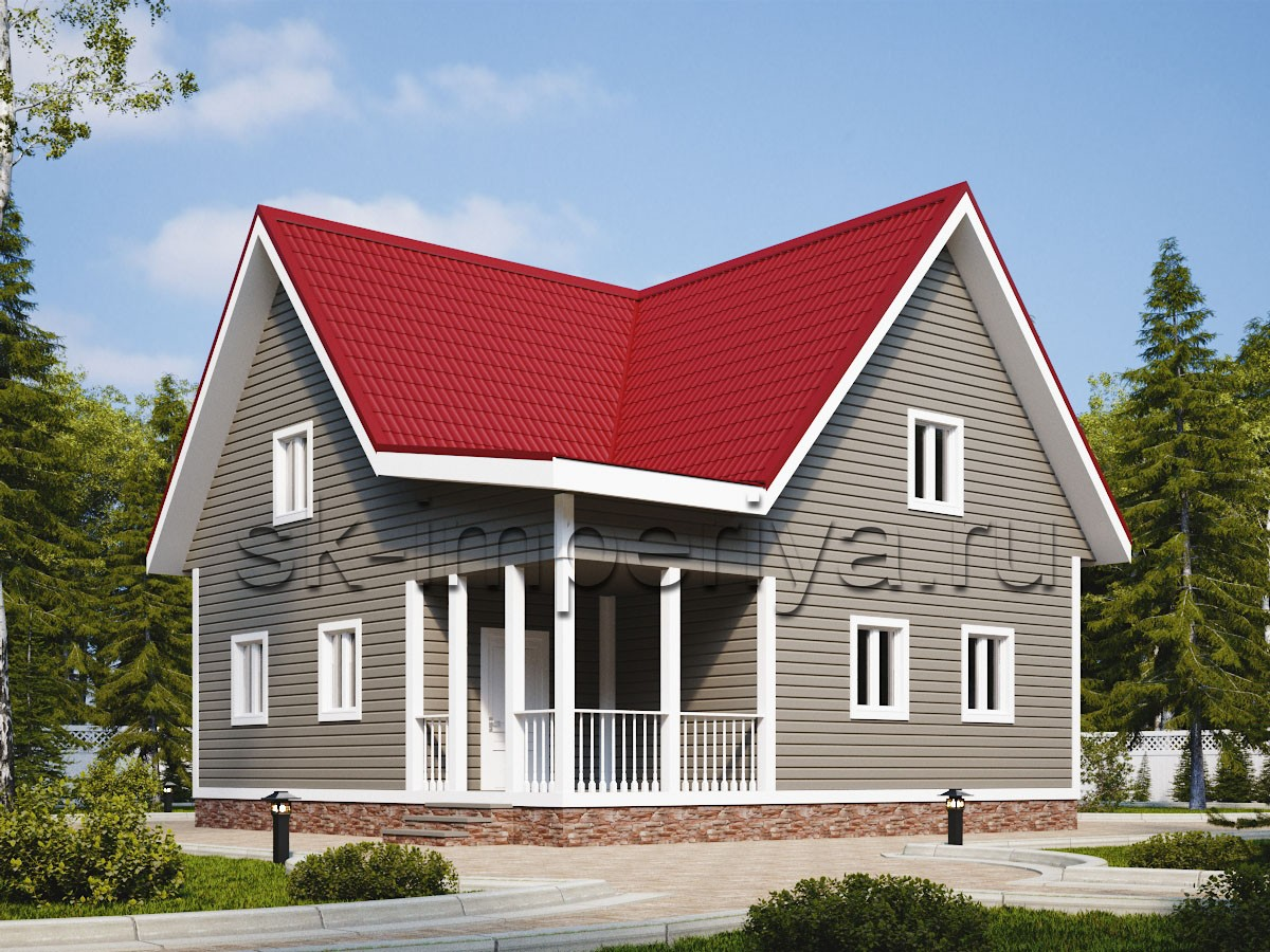 Дом из бруса: проект Солярис
