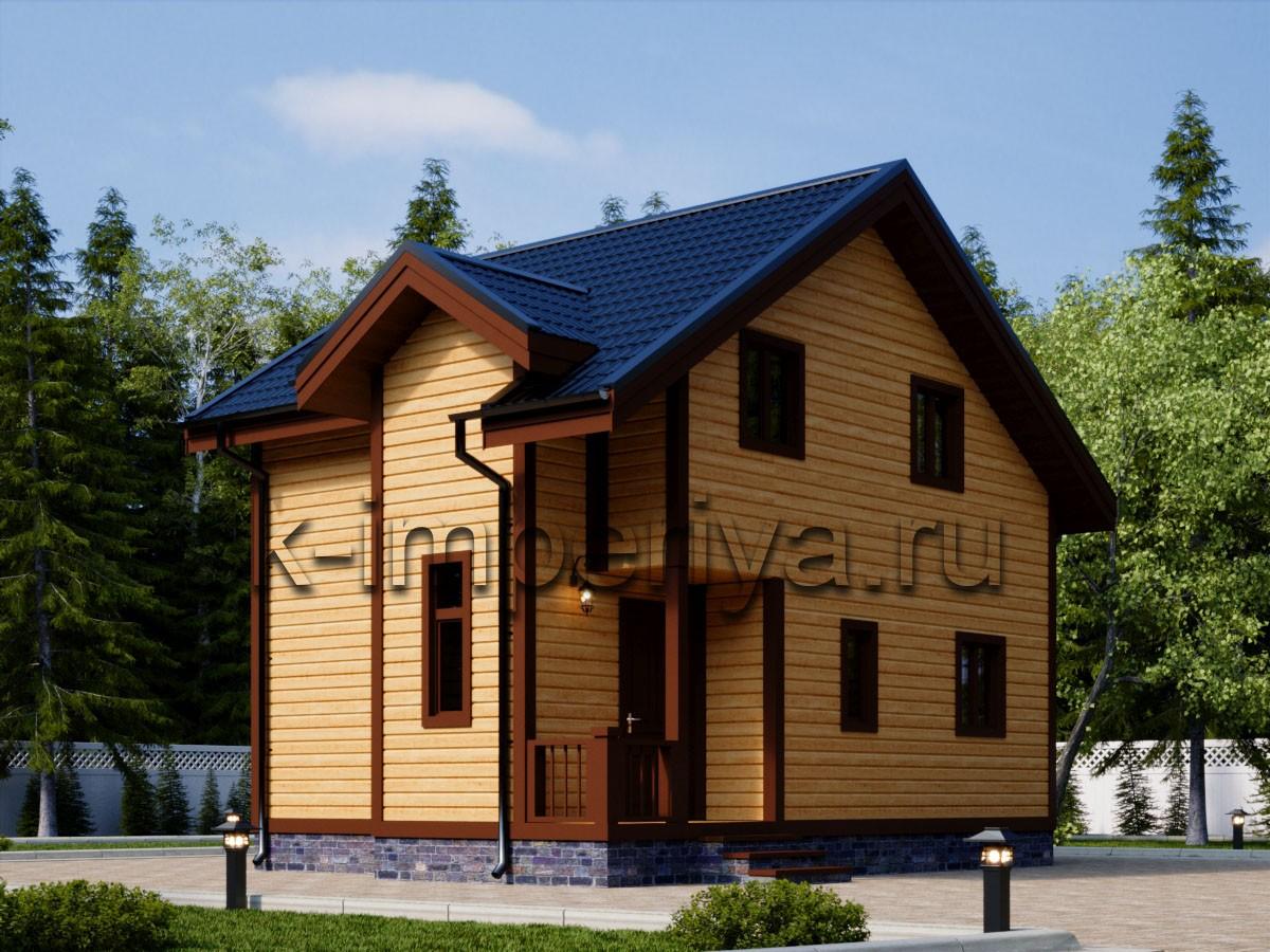 Каркасный дом: проект Примьер