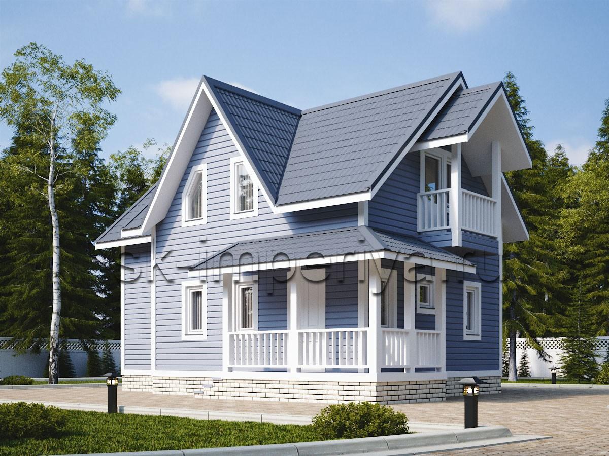 Каркасный дом: проект Астория