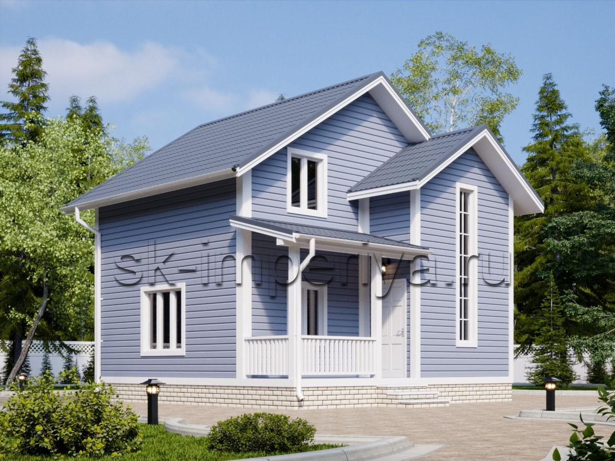 Каркасный дом: проект Бастион
