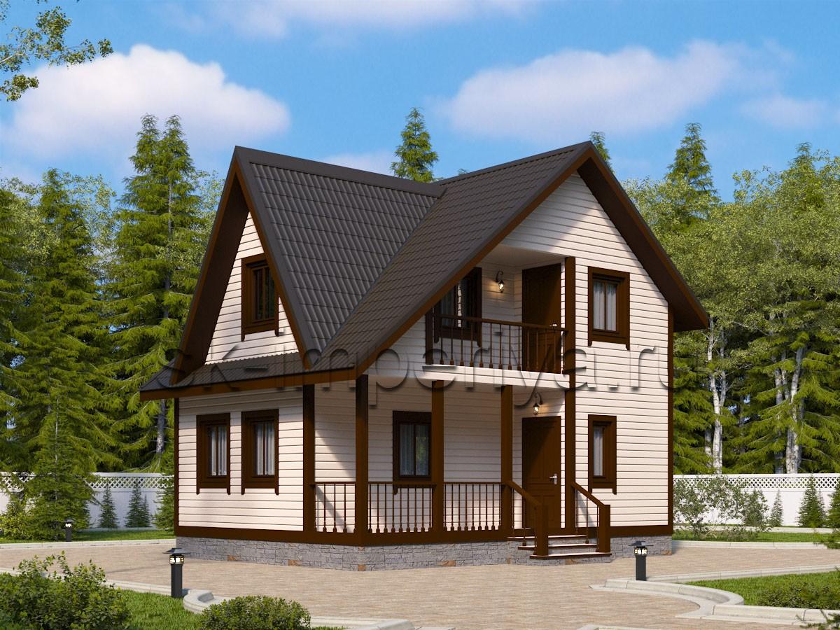 Дом из бруса: проект Базель