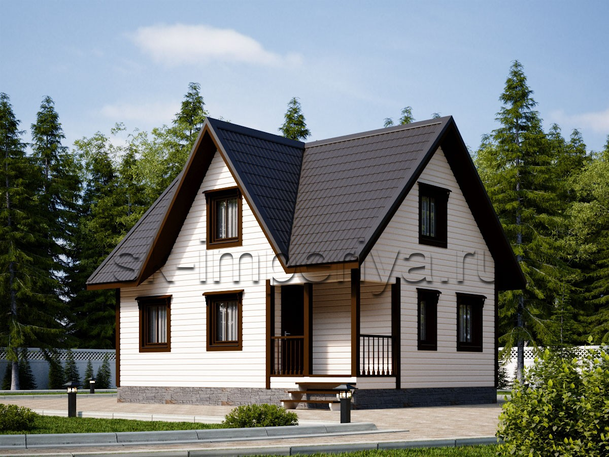 Дом из бруса: проект Альтаир