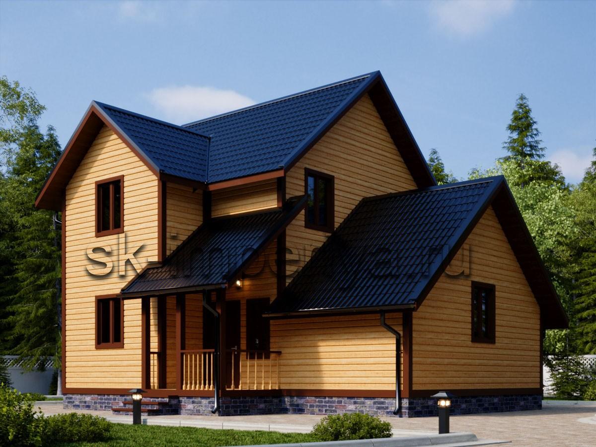 Каркасный дом: проект Полесье