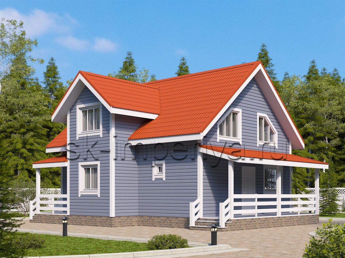 Каркасный дом: проект Юнит