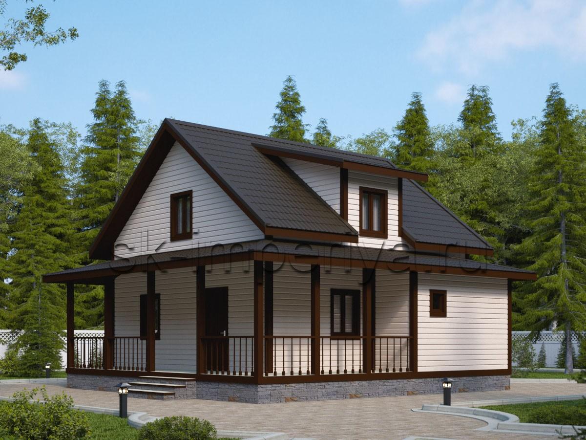 Каркасный дом: проект Индиго