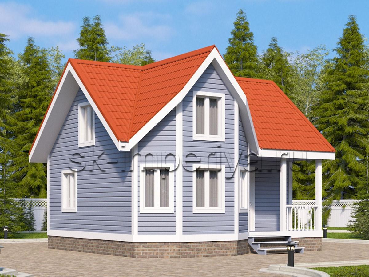 Дом из бруса: проект Гринвич