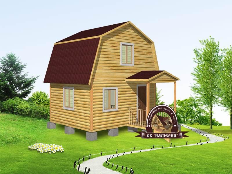 Дом из бруса: проект Д-4