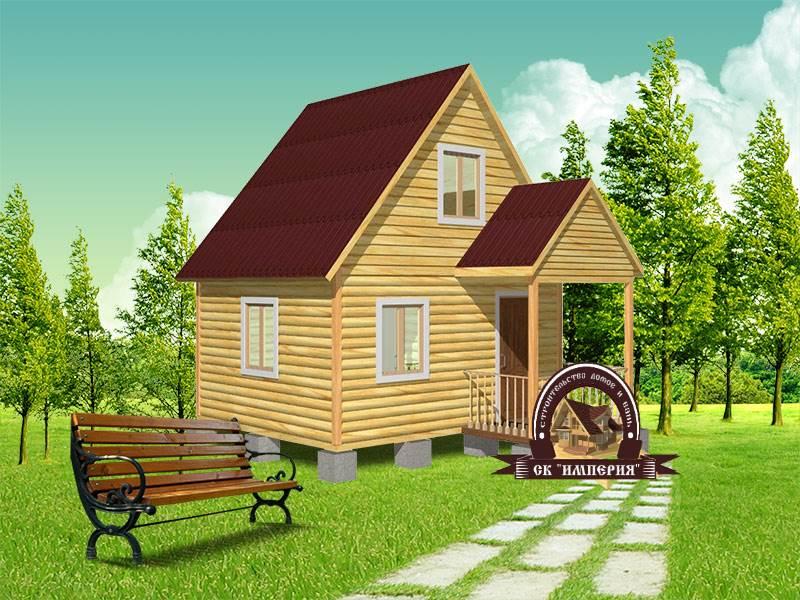 Дом из бруса: проект Д-5