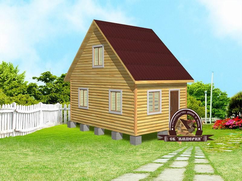 Дом из бруса: проект Д-7