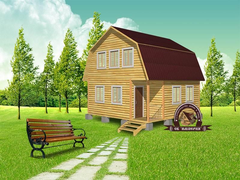 Дом из бруса: проект Д-9