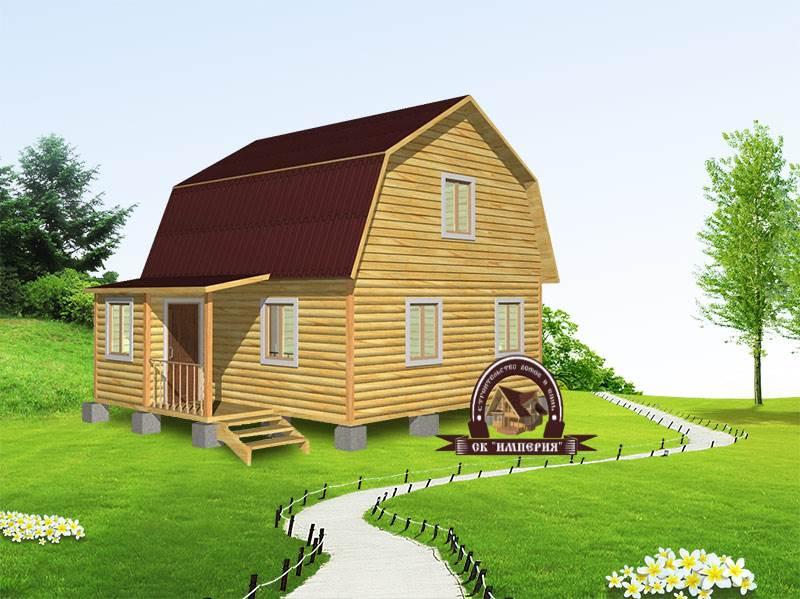 Дом из бруса: проект Д-12