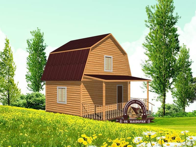 Дом из бруса: проект Д-14