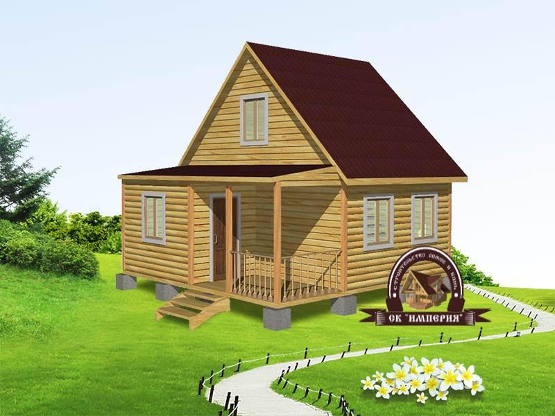 Дом из бруса: проект Д-19