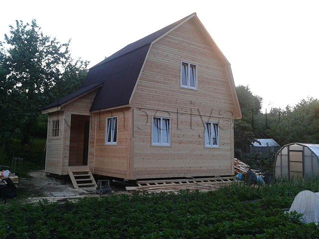 Брусовой дом, проект Д-11(2)