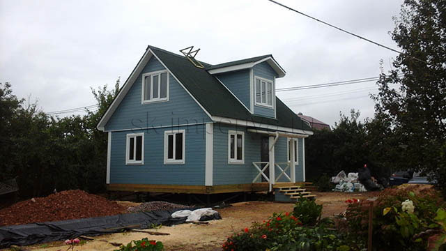 Брусовой дом, проект - Бестужев