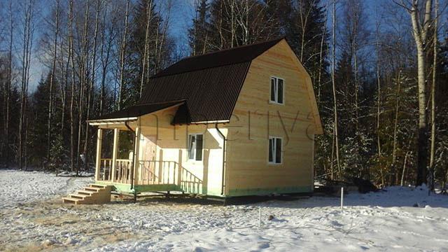 Брусовой дом, проект Д-11(3)