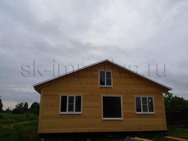 Индивидуальный проект одноэтажного каркасного дома (9х12м.)
