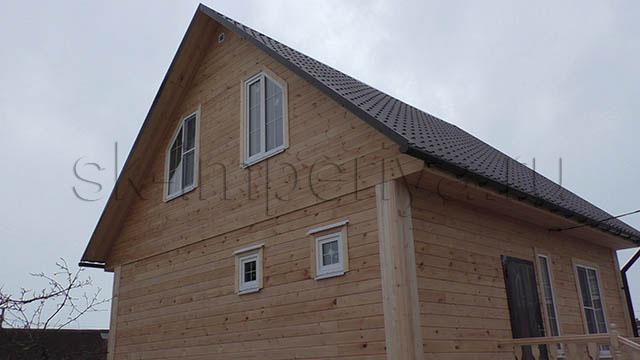 Индивидуальный проект брусового дома с мансардным этажом (7х7м.)