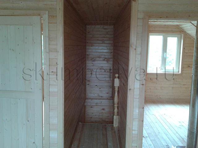 Индивидуальный проект полутораэтжного каркасного дома (6х9м.)