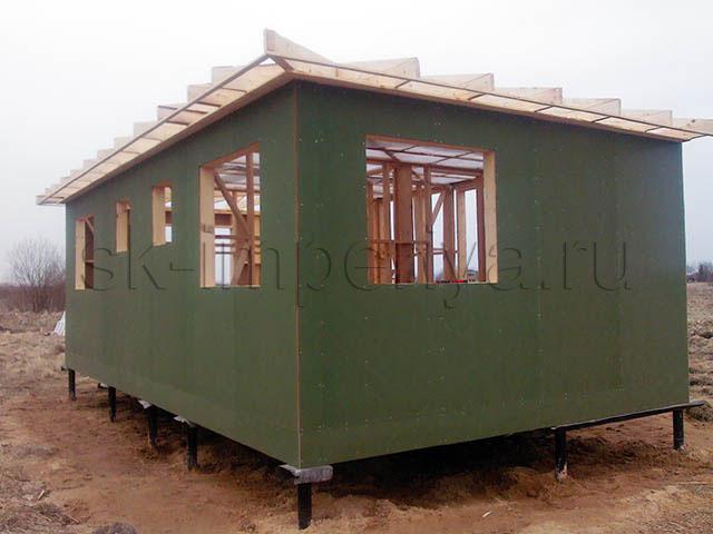 Индивидуальный проект одноэтажного каркасного дома (5х7м.)