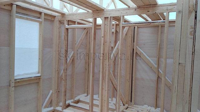 Индивидуальный проект каркасного дома с мансардным этажом (6х7.5м.)