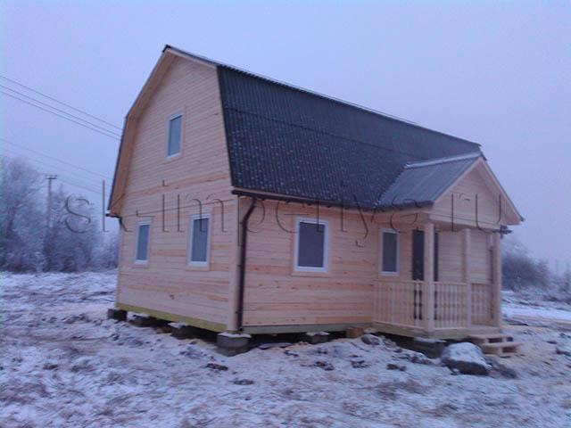 Индивидуальный проект брусового дома с мансардным этажом (6х8м.)
