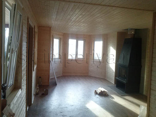 Индивидуальный проект полутораэтжного каркасного дома (9х12м.)