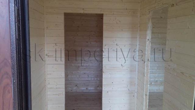 Индивидуальный проект одноэтажного каркасного дома (6х21м.)