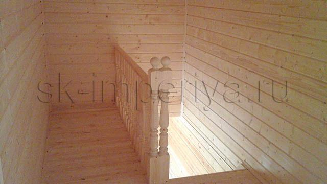 Индивидуальный проект брусового дома с мансардным этажом (7х9м.)
