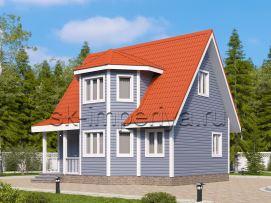Акция: дом+свайно-винтовой фундамент+сборка+доставка = 796 000р(Лидер)