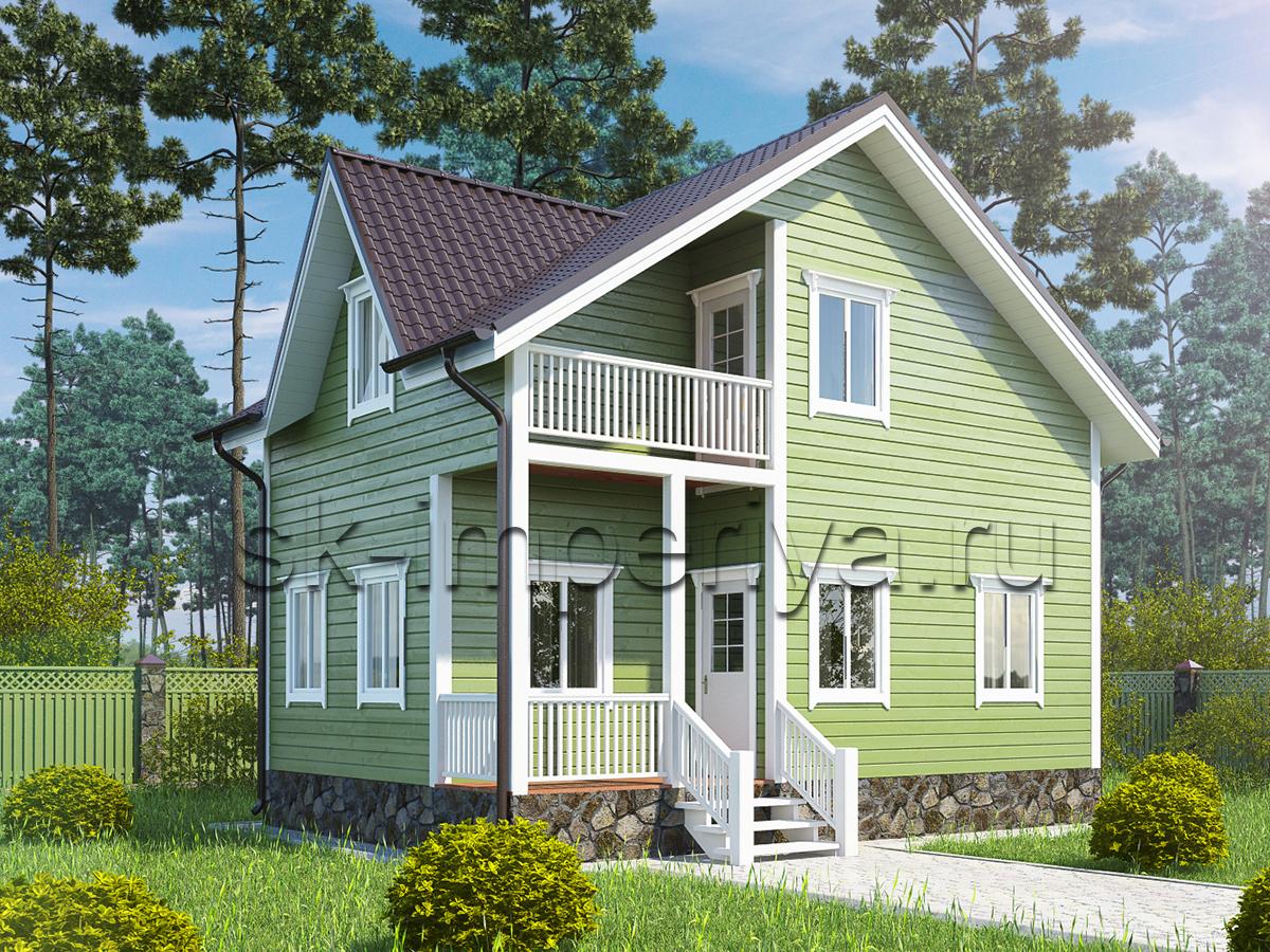 Каркасный дом: проект Южанин