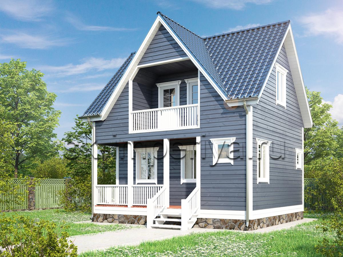 Каркасный дом: проект Лайтхаус