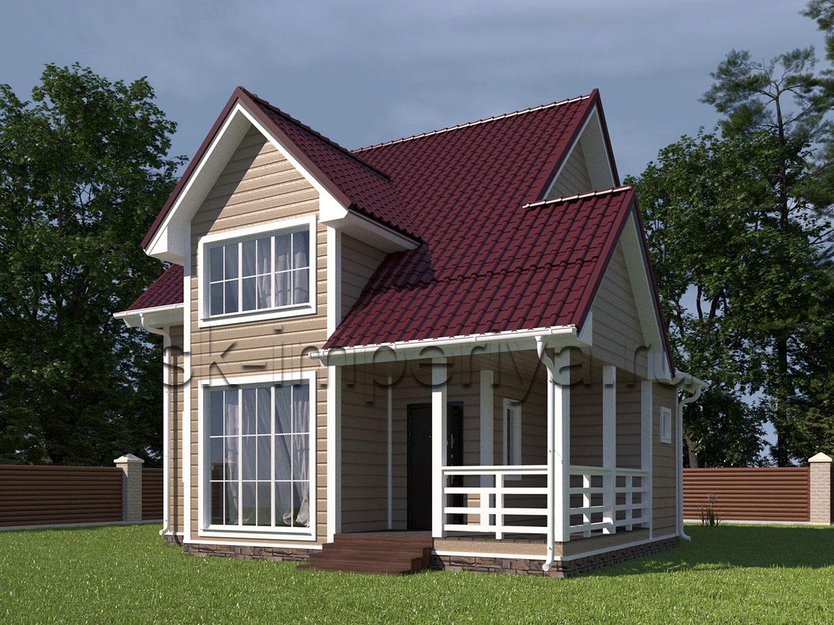 Каркасный дом: Проект Мичуринец