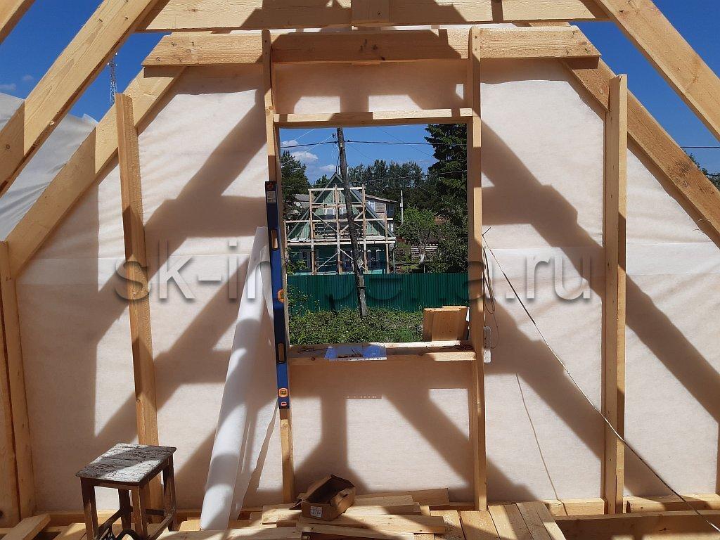 Брусовой дом, проект - Лидер