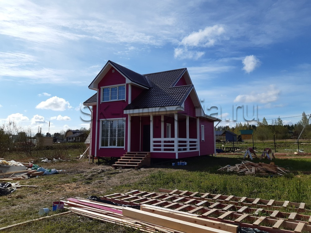 Каркасный дом, проект – Мичуринец